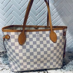 Louis Vuitton Neverfull PM DA Damier Azur bag tote
